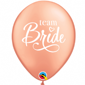 Team Bride Latex Balloons | Free Delivery Available